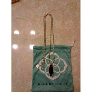 Kendra Scott Black Shaylee Pendant Arrow Necklace
